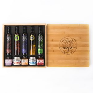 Bamboo Box with Salts & No Wine