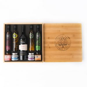 Bamboo Box with Wine & Salts